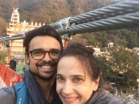 First Lakshman Jhula Bridge Crossing!
