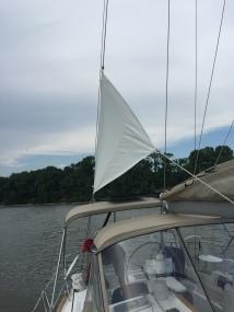 Anchor riding sail at work!